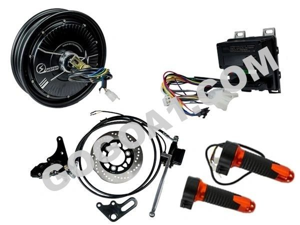 GoGoA1 10 inch 48V 800W BLDC Hub Motor With Disc Brake Scooter Kit