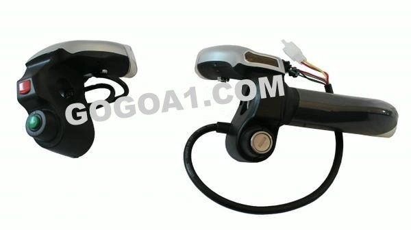 GoGoA1 E-BIKE THROTTLE WITH HEADLIGHT AND KEY SWITCH 48V