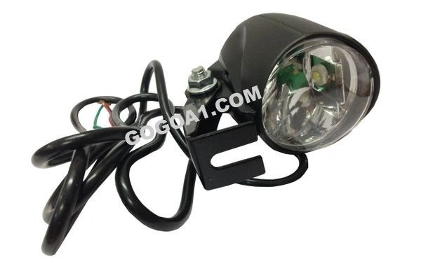 GoGoA1 Universal Electric Bike Scooter Round Headlight with Horn