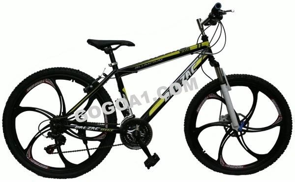 BALZAC Mountain Bicycle with Aluminum frame and black 26 magnesium alloy wheels,black&yellow