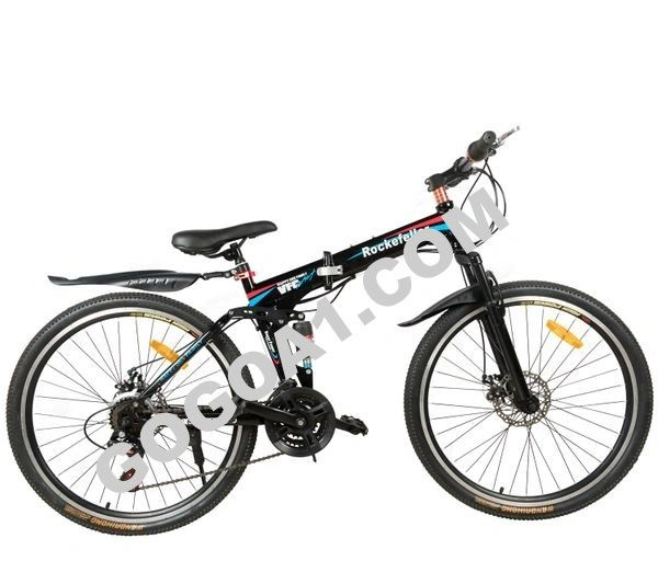 Rockefeller 26 inch Folding Mountain Bicycle with Spokes Wheels