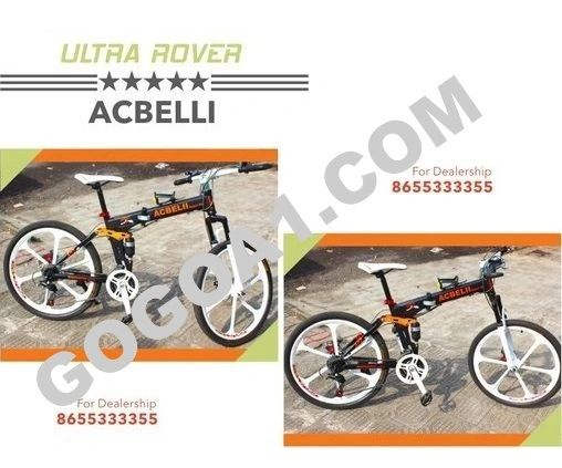 ACBELLI Mountain Bicycle with 26'' Magnesium Alloy Wheels
