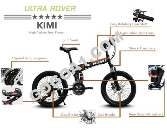 KIMI 20 inch Foldable Mountain Bike with spoke wheels