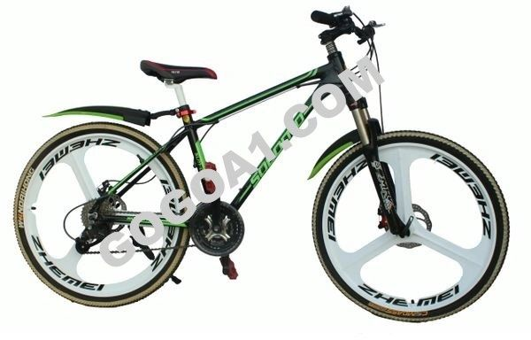 SOLOMO Mountain Bicycle with High carbon steel and 26'' Magnesium alloy wheels