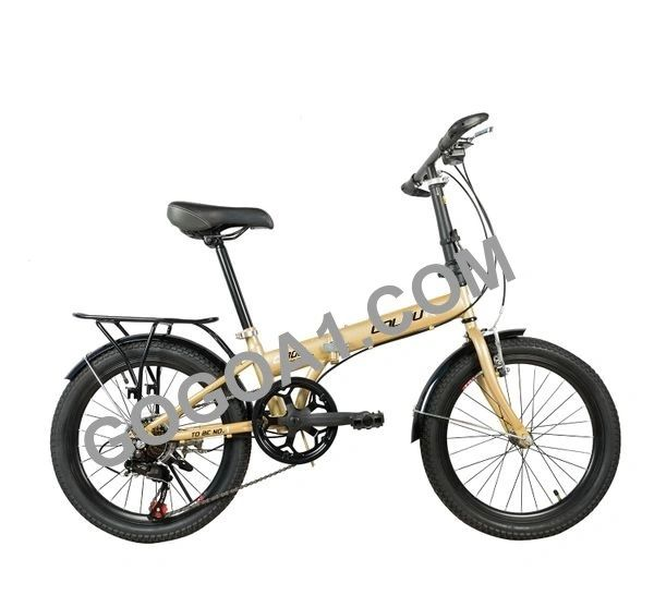 COLOUR City Bicycle with Folding High carbon steel frame and 20'' wheels