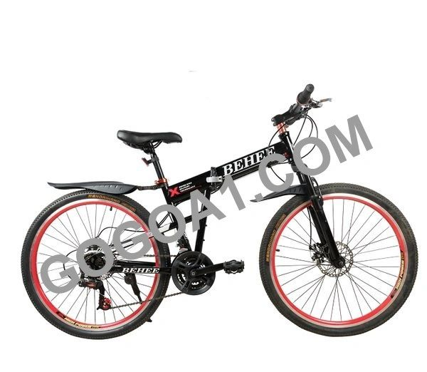 BEHEE X Mountain Bicycle with Folding High carbon steel and 26'' wheels