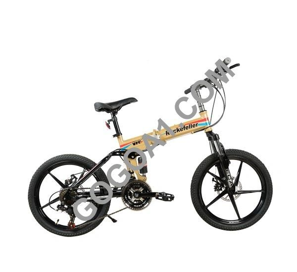Rockefeller City Bicycle with Folding High carbon steel frame and 20'' Magnesium wheels
