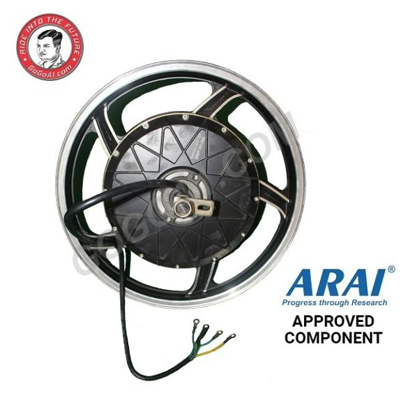 GoGoA1 17inch 2000W Brushless Electric Hub Motor for Electric motorcycle Conversion