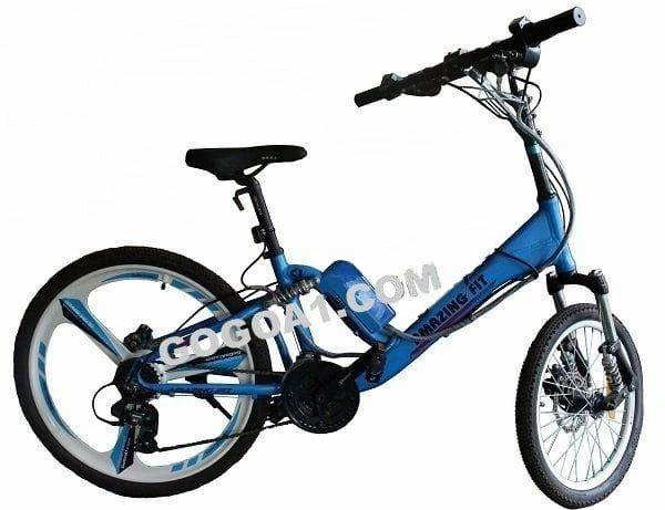 ULTRA ROVER Amazing Fit 26 Inch rear, 20 Inch front, Spokes Wheels Double Disc Brake 21 Speed Gear Aluminium alloy frame fully Loaded Electric City Bicycle