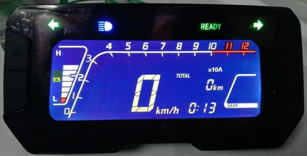Digital color dashboard for Electric Motorcycle