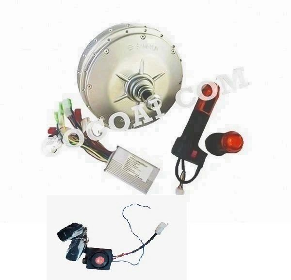 GOGOA1 BLDC Gearless 48v Hub Motor Kit With 250W Rated Power - 500W Peak Power Motor for E bike With Anti Theft