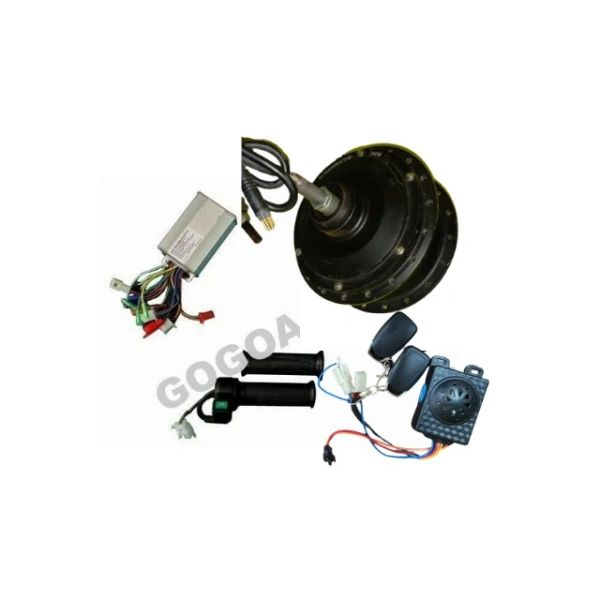 GoGoA1 36V/48V 240W-500W Hall Sensor less Hub Motor Kit For Fat Tyre With Anti Theft & Threads On Both Side