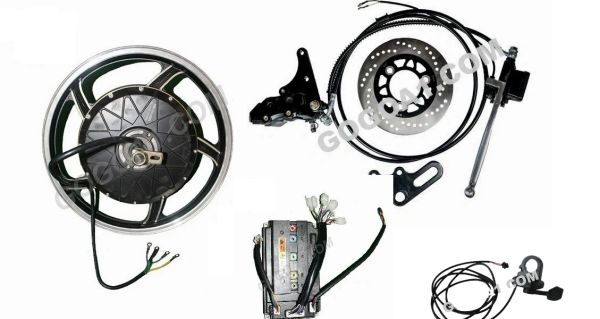 GoGoA1 17inch 2000W Brushless Electric Hub Motor for Electric motorcycle Conversion.