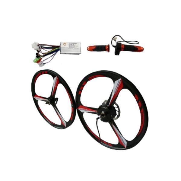 GoGoA1 36V/48V 250W Magnesium Wheel Hub Motor Electric Bicycle Conversion Kit