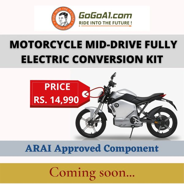 GoGoA1 Motorcycle Mid-Drive Electric Conversion Kit