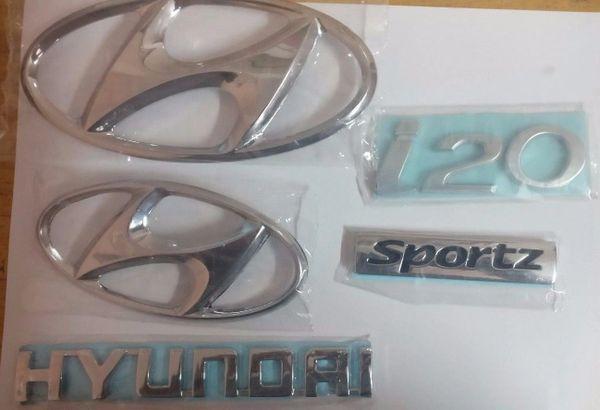 Hyundai i20 Sportz High Quality logo / Monogram Set of 5-Pcs
