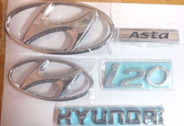 Hyundai I20 Asta High Quality logo / Monogram Emblem Set of 5-Pcs