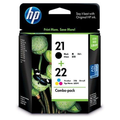 HP 21-22 Combo Pack Printer Cartridges 100% Original Guaranteed ( Sealed Pack )