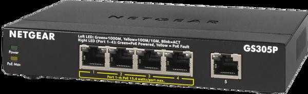 Netgear 300-Series POE GS305P-100NAS Gigabit Ethernet Unmanaged 5 Port Switch