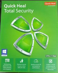 Quick Heal Total Security 5 Users 1 Year License with DVD ( Windows Only )