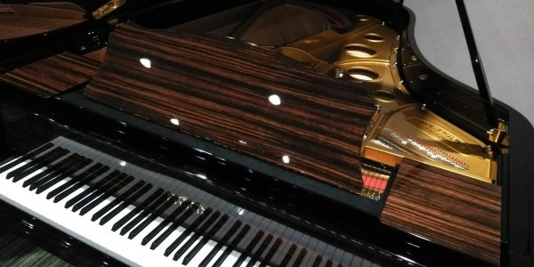 Player grand piano in Naples, FL.