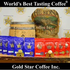"Jamaica Blue Mountain & Hawaii Kona ""1Cups""- 80 K-Cup compatible pods Combo"