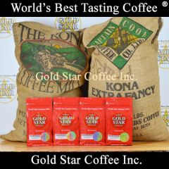 4 lb Hawaii Kona Extra Fancy Coffee DARK ROAST