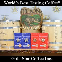 4 lb Jamaican Blue Mountain & Hawaiian Kona Coffee Combo