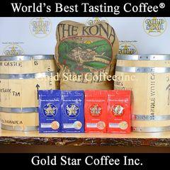 4 lb Jamaica Blue Mountain & Hawaii Kona Coffee Combo DARK ROAST