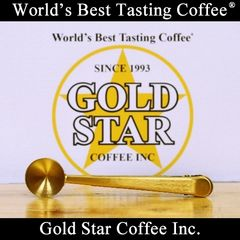 Gold Star Coffee Gold Coffee Scoop & Clip