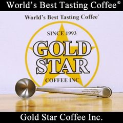 Gold Star Coffee Silver Coffee Scoop & Clip