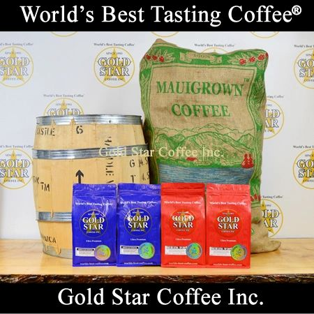 4 lb Jamaican Blue Mountain & Hawaiian Maui Red Catuai Coffee Combo