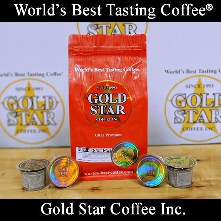 """Perk Up - High Caffeine Coffee """"1Cups""""- 10 K-Cup compatible pods"""