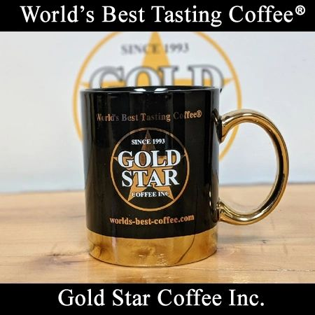 Gold Star Coffee Ceramic Mug