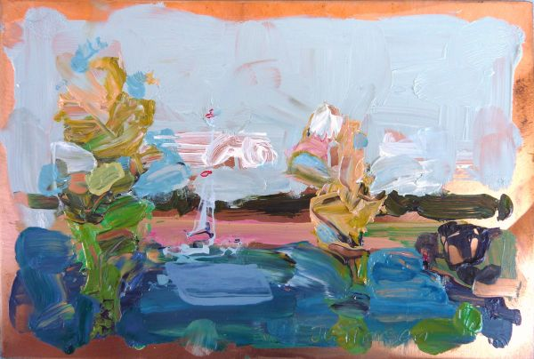 1709-06h | le Lac no. 6 | Original Oil Painting