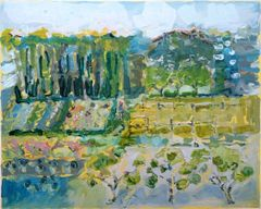 1610-01h Garden with Apple Trees and Cupolas - Original