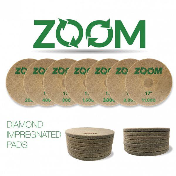 "Stone Pro 17"" # 11000 Grit Zoom Diamond Impregnated Pad"