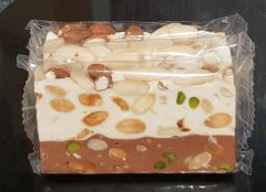 Pistachio, Almond and Chocolate Nougat