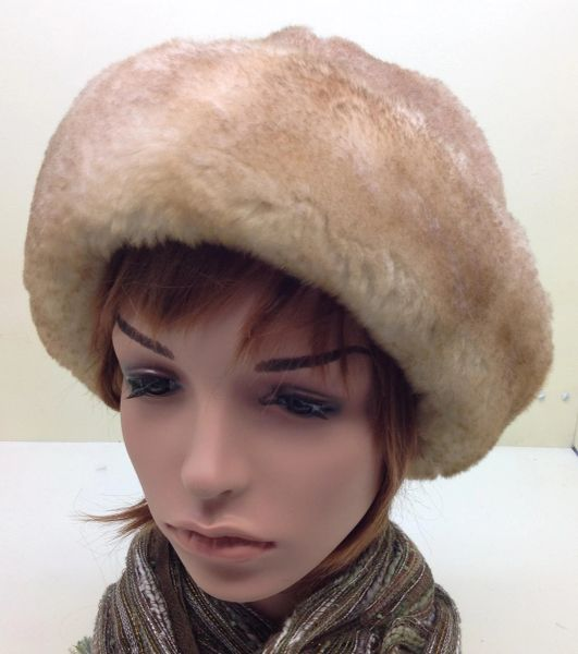 Shearling Round Hat