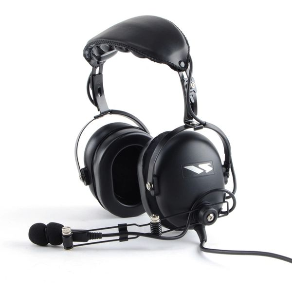 VH-110S Heavy Duty Dual Muff Headset / Boom Mic / Noise Cancelling / 3.5mm Male Plug