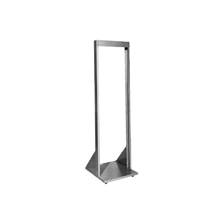 "ZZZ Bud Industries Inc. - 71.75"" x 19"" Open Rack with Chassis Base, Black"