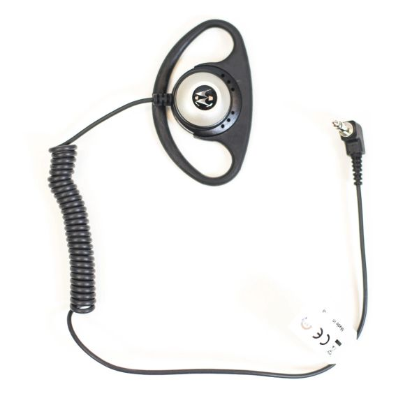 PMLN4620 Receive Only D- Shell Earpiece for Remote Speaker Microphone Only 3.5mm Adaptor. Plugs into speaker microphone NOT the radio