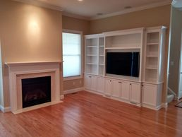 Custom Media & Entertainment Centers - Fireplace Mantel-Surround