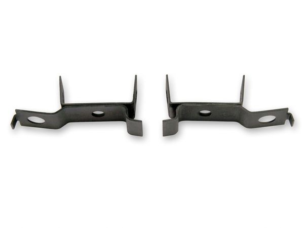 RADIATOR MOUNTING BRACKET (67): Lower, OEM black, fits original radiators only