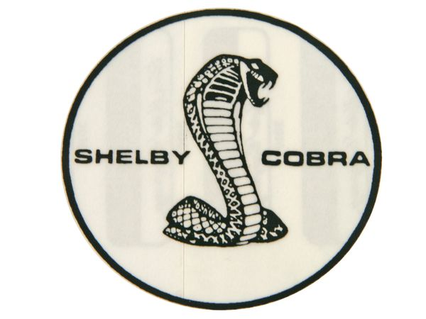 "SHELBY DECAL (65-70): 2 1/4"" ROUND W/ TIFFANY SNAKE, FOR SHOCK ABSORBER"