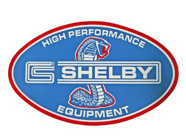 """SHELBY DECAL (65-70): 10"""" ROUND, FOR SHELBY HI-PERFORMANCE EQUIPMENT"""