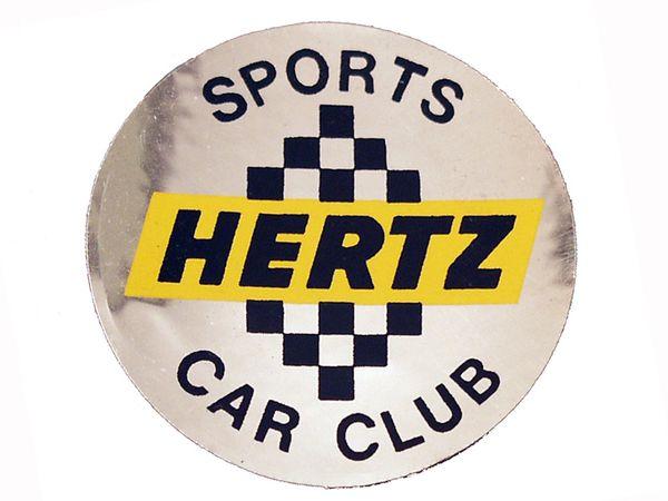 WHEEL CENTER DECAL (66): SHELBY HERTZ CAR CLUB