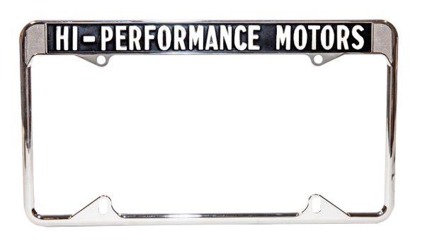 HI PERFORMANCE MOTORS LICENSE PLATE FRAME (64-73)