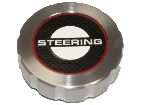 BILLET ENGINE CAP (65-66): POWER STEERING CAP COVER, W/OUT STICK