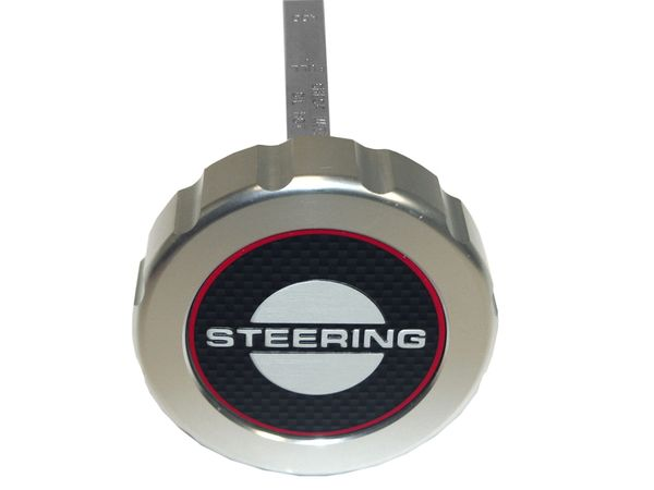 BILLET ENGINE CAP (65-66): POWER STEERING CAP, W/ STICK